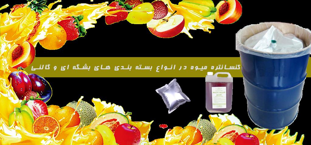 انواع کنسانتره میوه